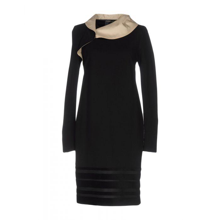 Image for Black viscose knee-length dress