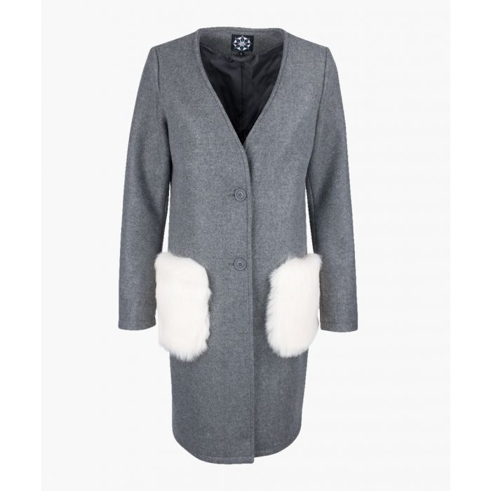 Image for Grey wool blend coat