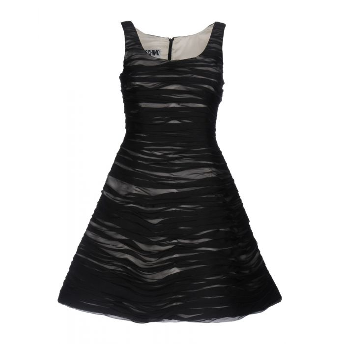 Image for Black silk mini dress