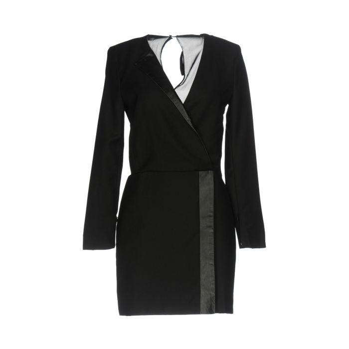 Image for Black pure wool mini dress