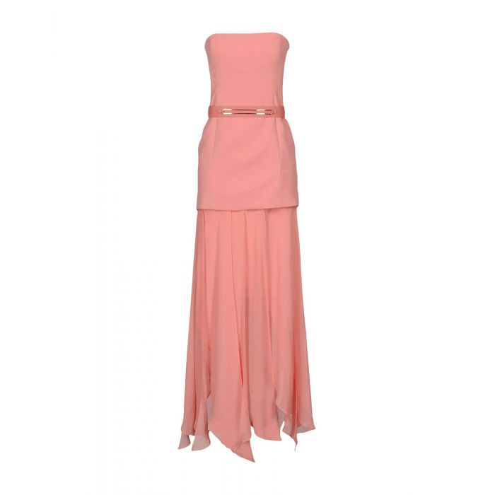 Image for Halston Pink Polyester Vestiti lunghi