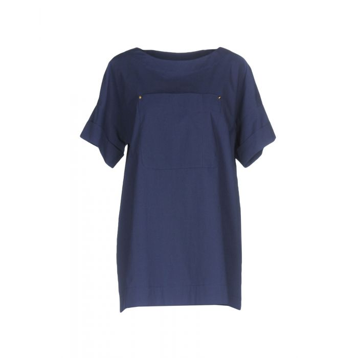 Image for Boutique Moschino Dark blue, White Cotton Bluse