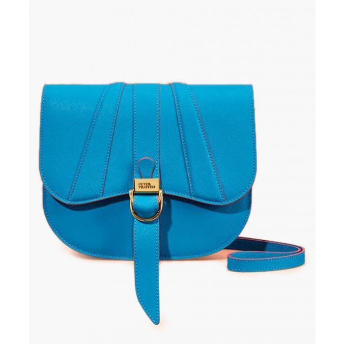 Image for Blue leather satchel