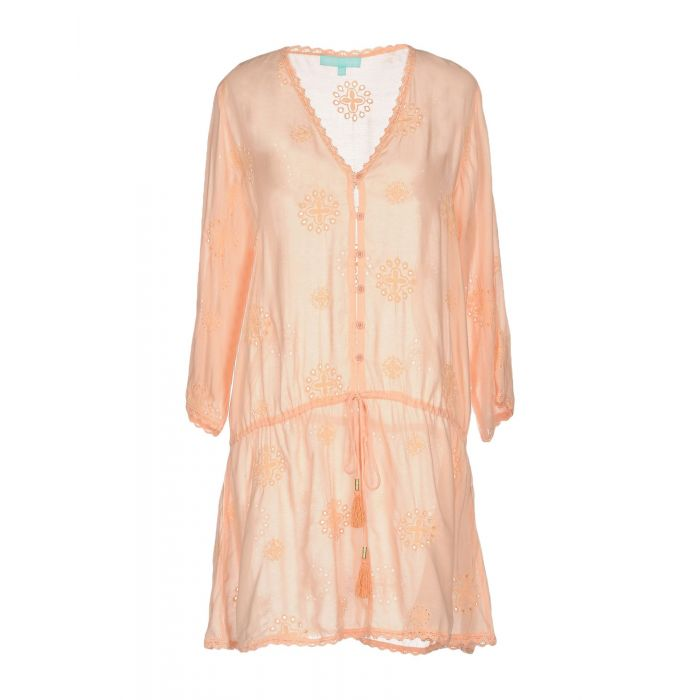 Image for Salmon pink rayon mini dress