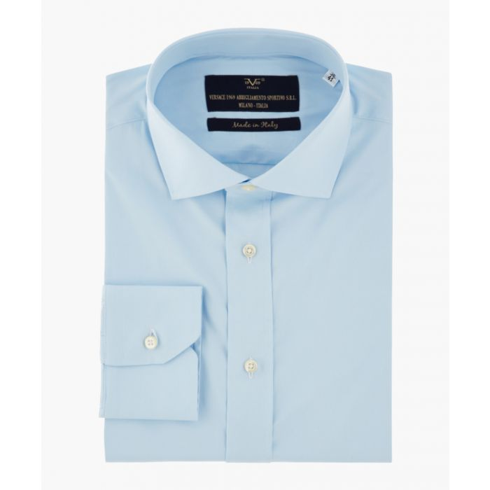 Image for Blue pure cotton classic collar shirt