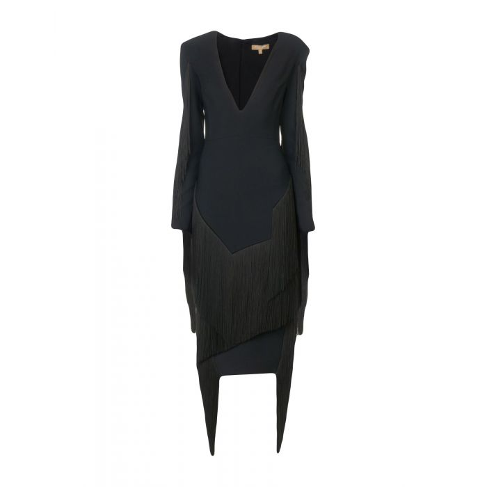 Image for Michael Kors Collection Black, Brick red Rayon Vestiti longuette