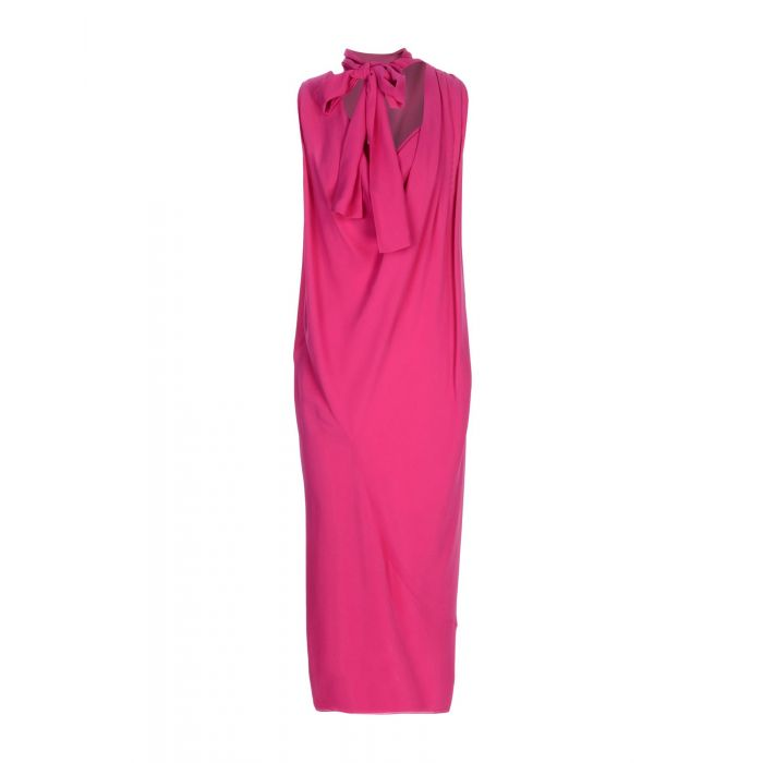 Image for Garnet pure silk knee-length dress