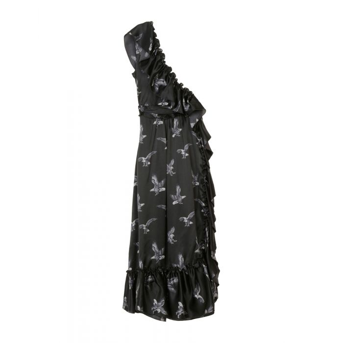 Image for Msgm Black Silk Vestiti lunghi