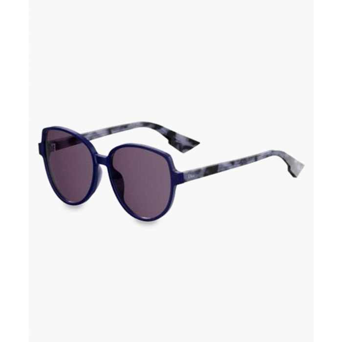 Image for Ronde blue tortoiseshell sunglasses