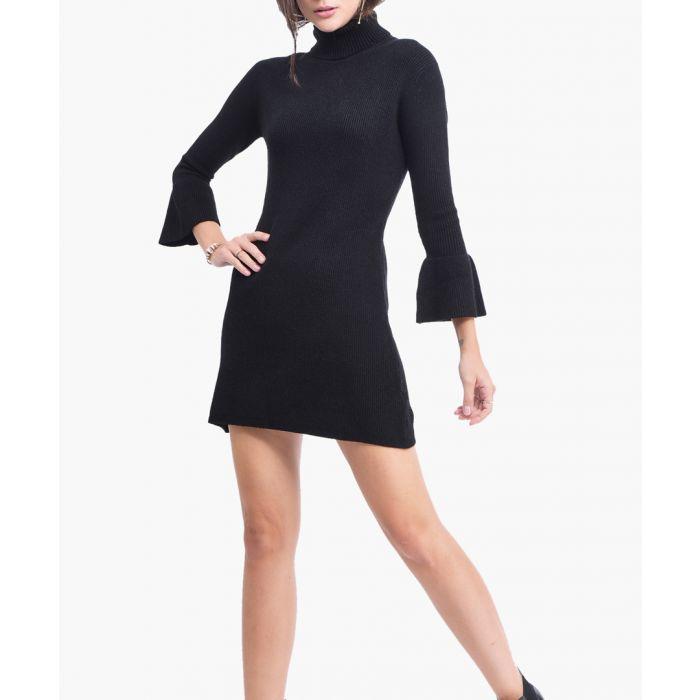 Image for Black cashmere blend dress