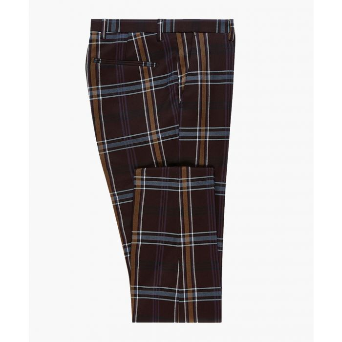 Image for Purple check skinny suit trousers