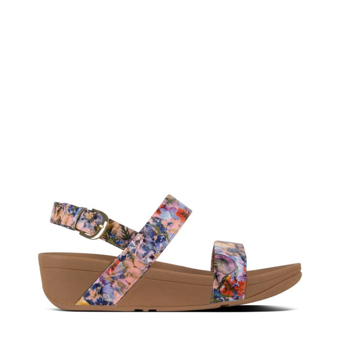 Image for Lottie oyster pink faux-leather printed sandals