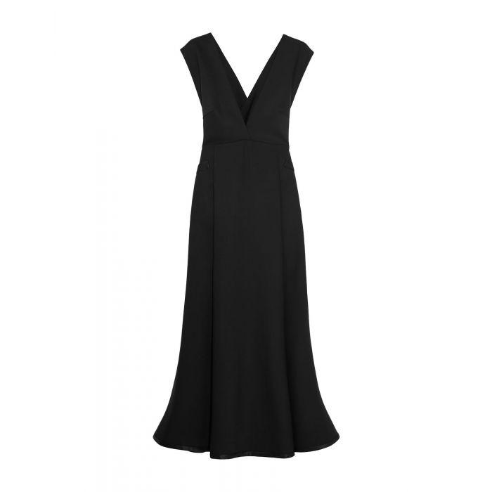 Image for Ellery Black Wool Vestiti longuette