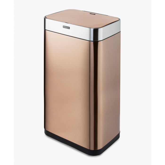 Image for Copper-tone rectangular sensor bin 75L