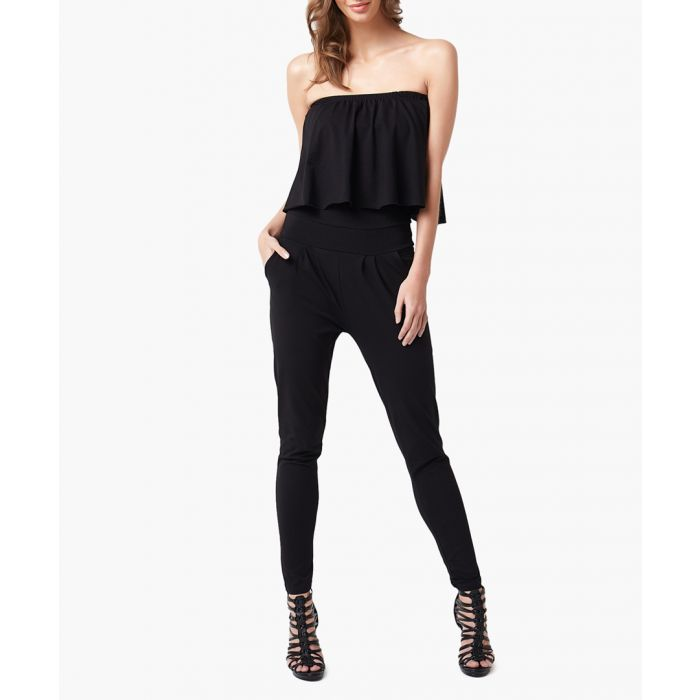 Image for Black woven overalls