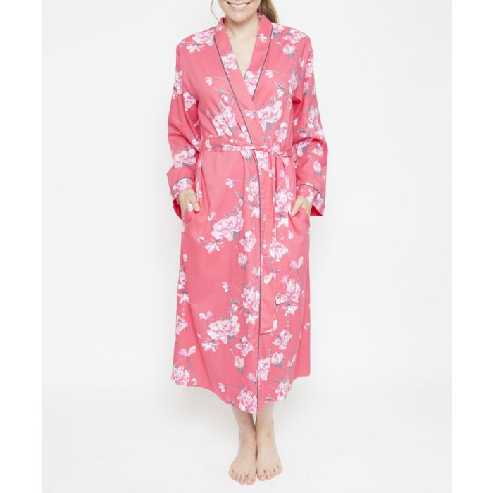 Image for Chloe pink floral printed robe