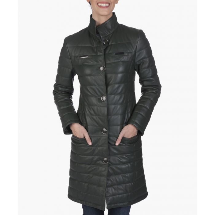 Image for Green leather jacket