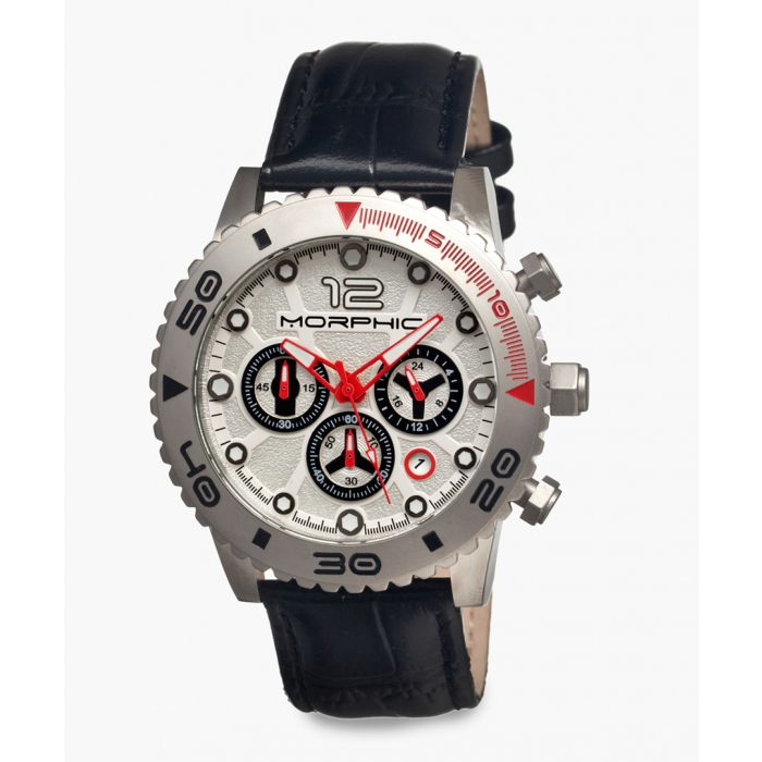 Image for M33 Series silicone and stainless steel chronograph watch