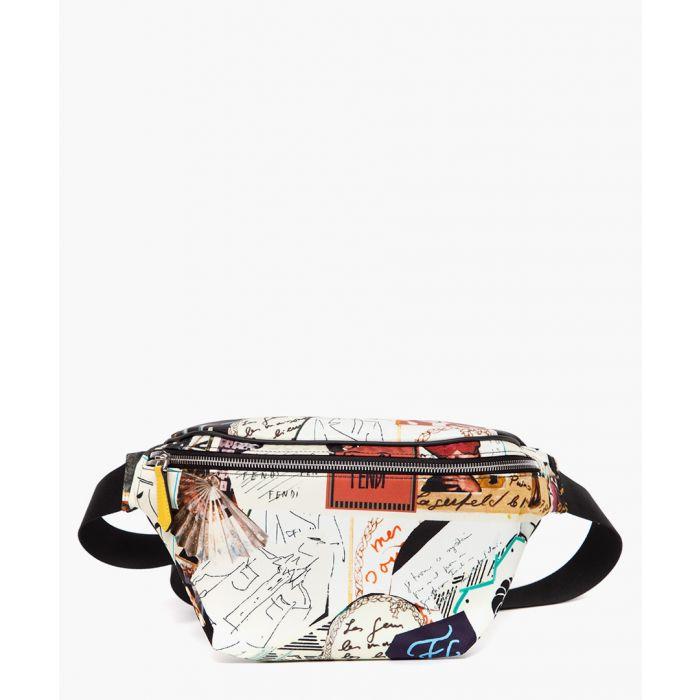 Image for Multi-colored karl kollage nylon belt bag