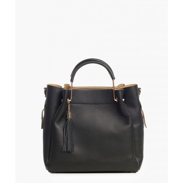 Image for Nozza black leather grab bag