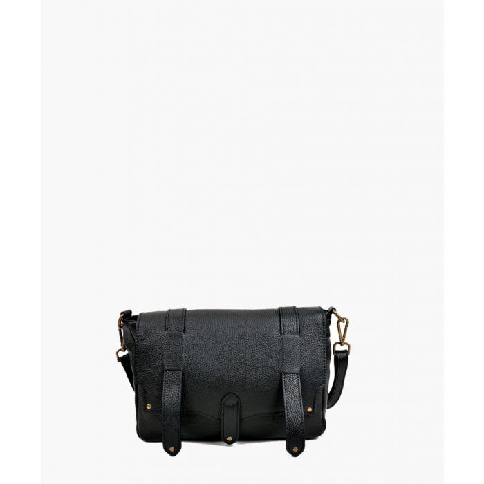 Image for Black leahter shoulder bag