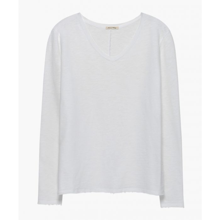 Image for White long sleeved top