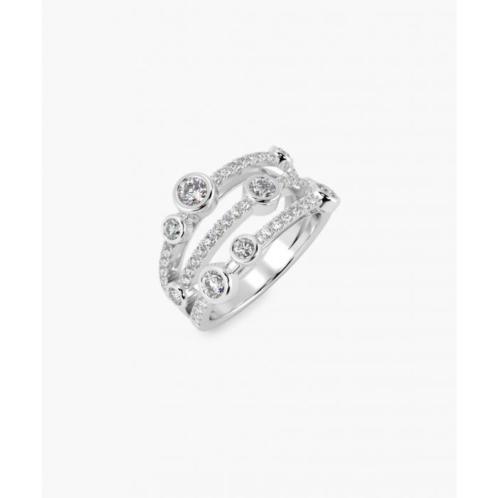 Image for 18k White gold dancing bubble ring