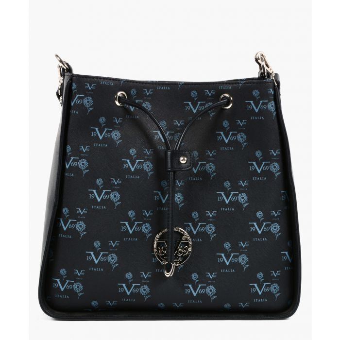 Image for Black logo print drawstring bag