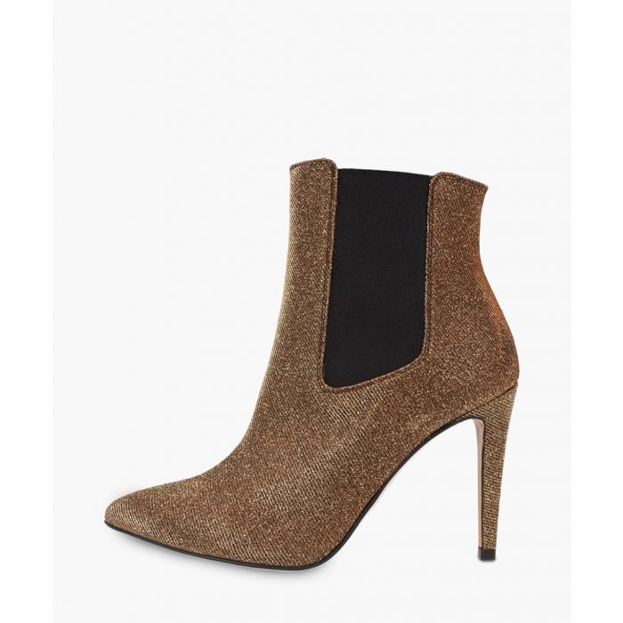 Image for Gold-tone leather ankle boots