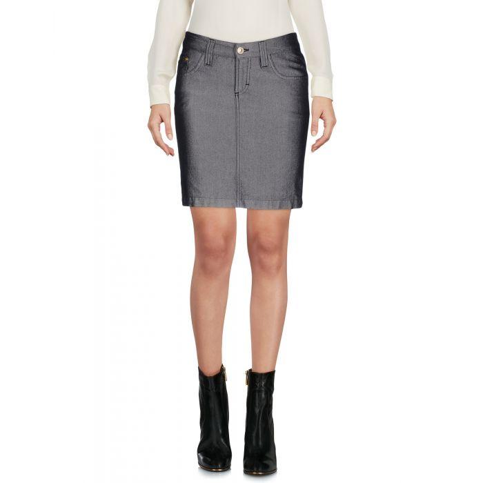 Image for Black cotton mini skirt