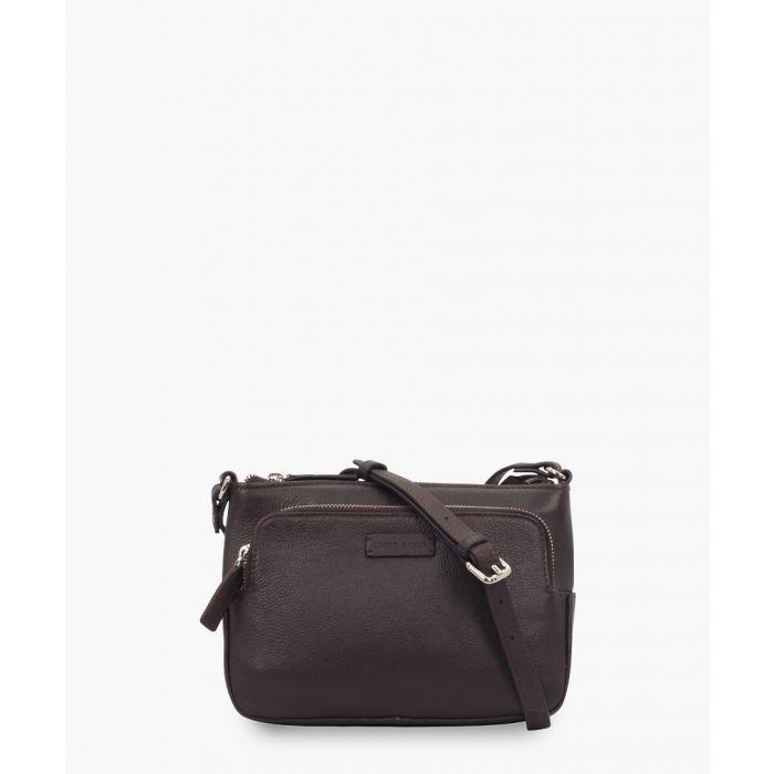 Image for Claret red leather crossbody