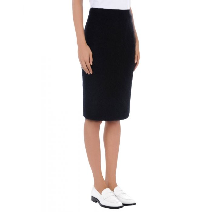 Image for Black wool cropped  skirt