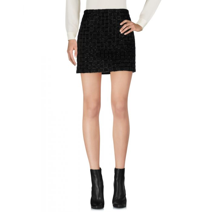 Image for Black wool mini skirt