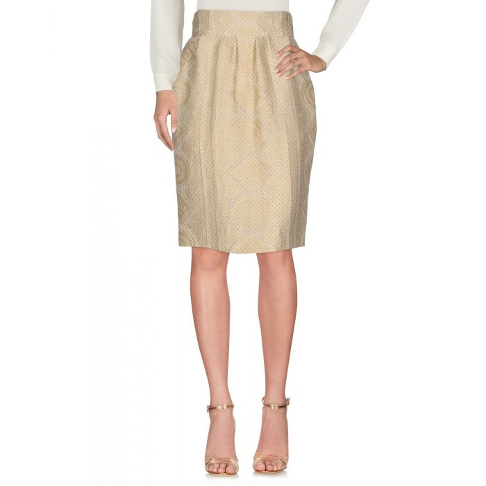 Image for Beige knee-length skirt