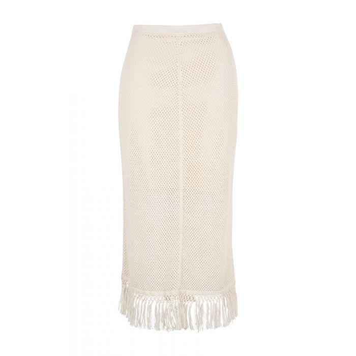 Image for Edun Ivory Cotton Gonne longuette