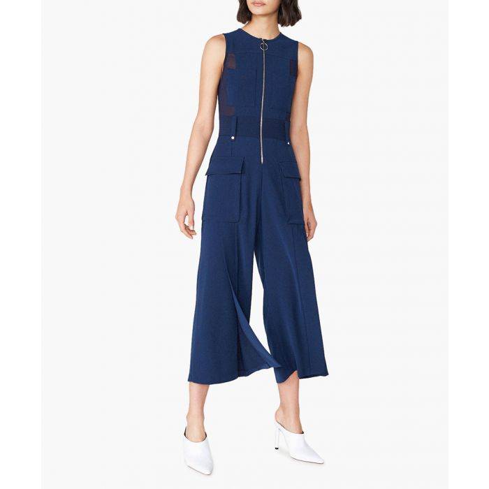 Image for Penfold navy wide-leg jumpsuit