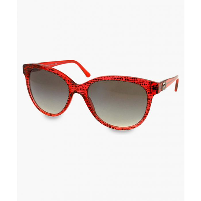 Image for Metal Eyes red frame sunglasses