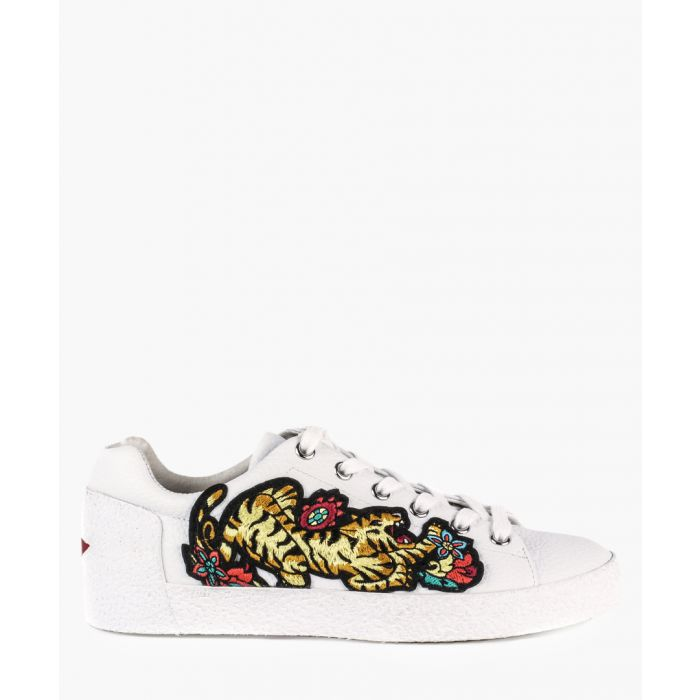 Image for Womens Niagara white leather sneakers