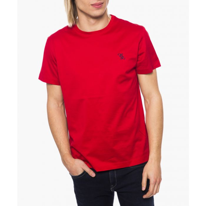 Image for Red logo print T-shirt