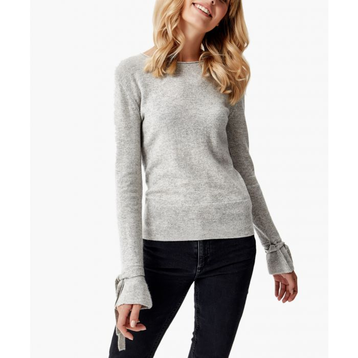 Image for Grey melange pure cashmere jumper