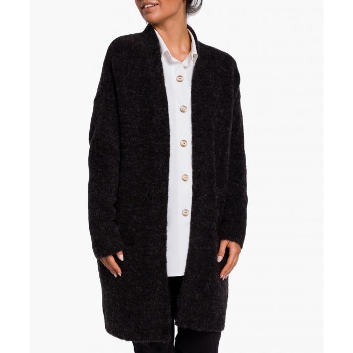 Image for Anthracite wool blend cardigan