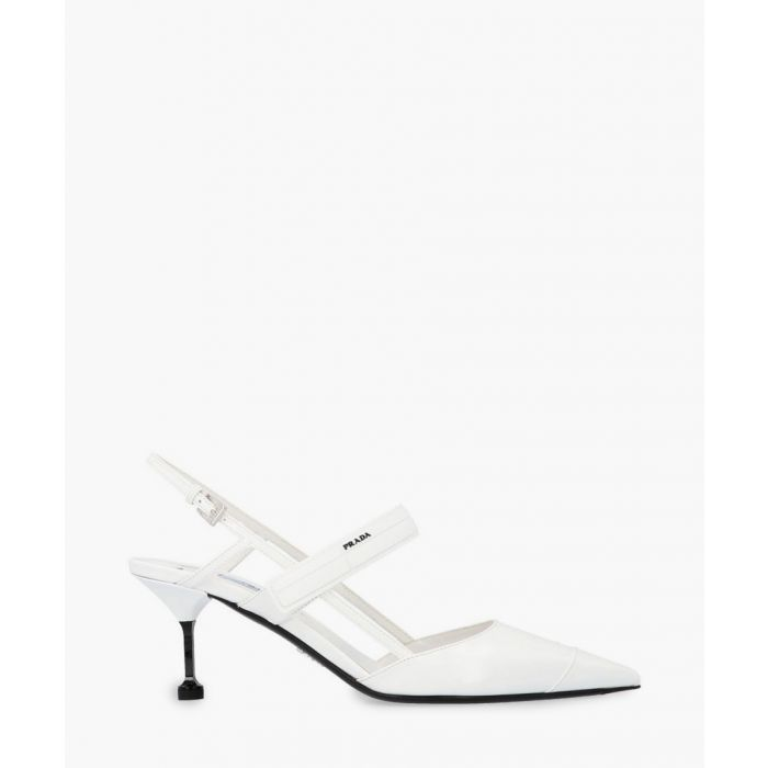 Image for White slingback pumps