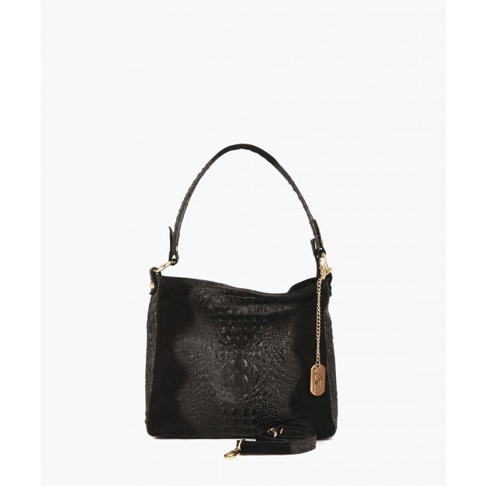 Image for Linda black leather shoulder bag