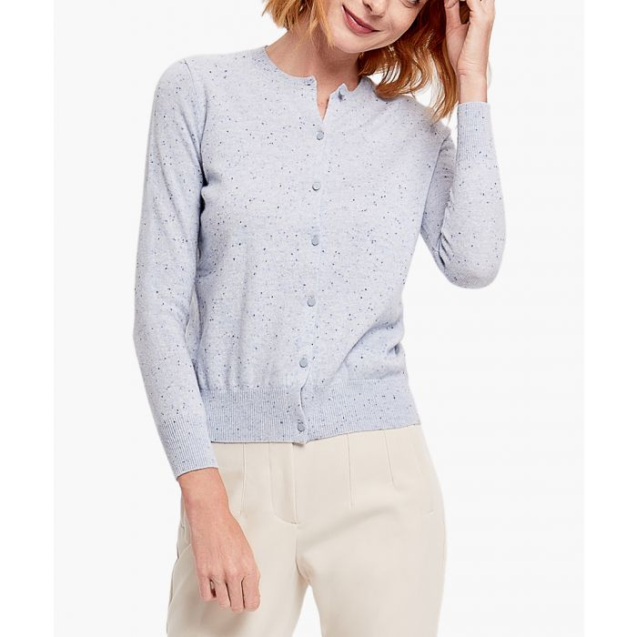 Image for Light Blue pure cashmere cardigan