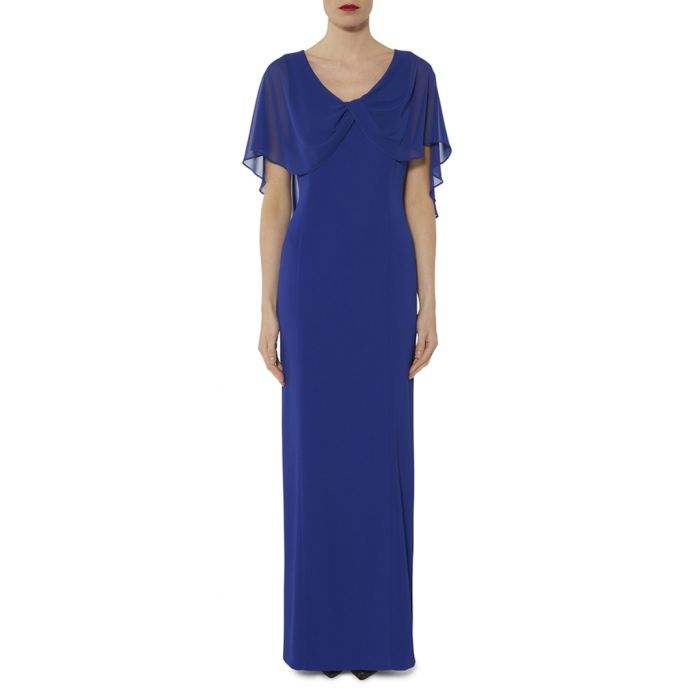 Image for Tayla sapphire chiffon sleeve maxi dress