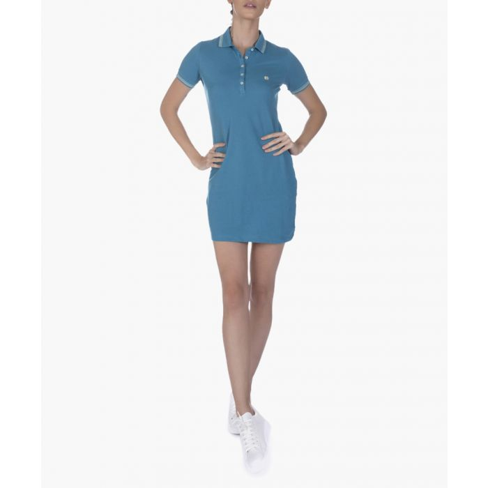 Image for Oil green pure cotton polo dress