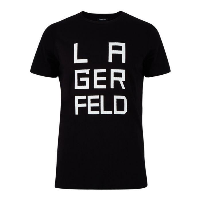 Image for Black & white cotton blend T-shirt