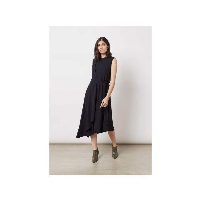Image for Marston Textured Jersey Dress - Navy