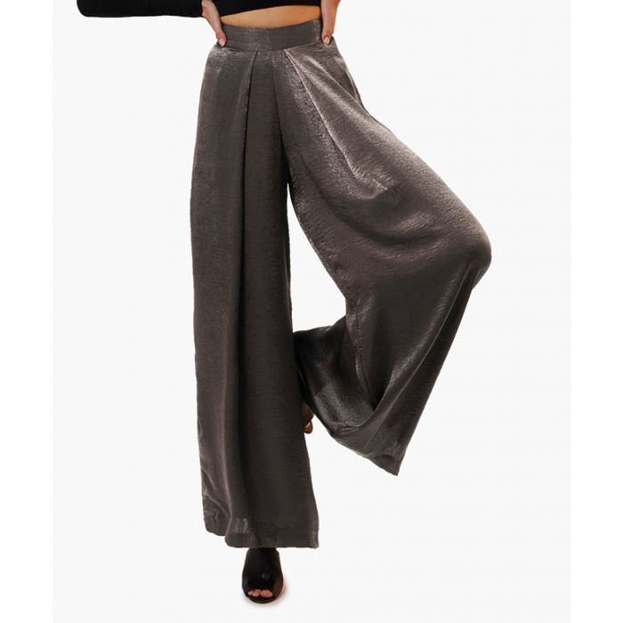 Image for Hiro silver-tone trousers