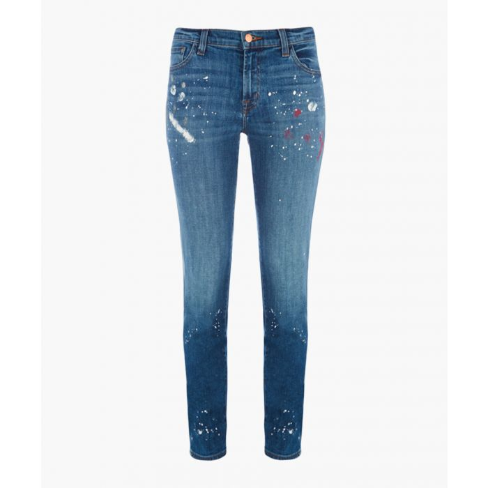 Image for Johnny mid-rise paint splatters boy-fit jeans